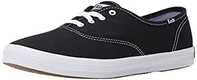Keds Women's Champion 2K Oxford Leather Sneakers,Black,5 S
