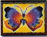 Butterfly Fantasy Latch Hook Rug Kit - 15