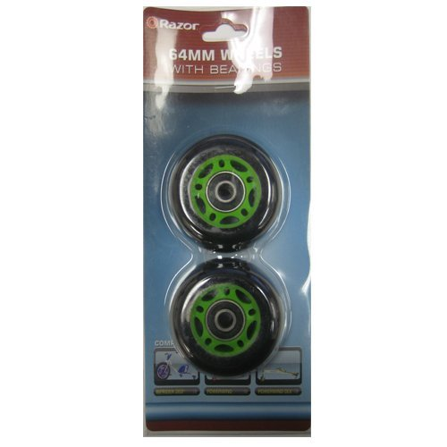 Razor PowerWing DLX Replacement Rear Wheels, Green