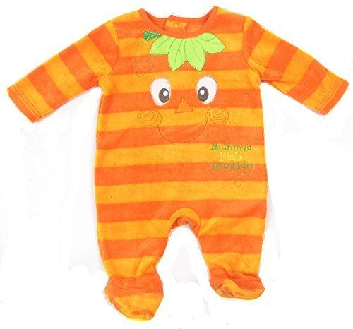 [Baby Halloween Outfit Boys and Girls First Size up to 12 Months (0-3 Months, Orange)] (0-3 Months Baby Halloween Costumes Uk)