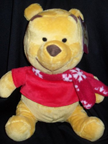 "Disney Winnie The Pooh Plush With Winter Scarf - 11"" - 1"
