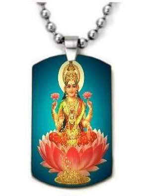 lakshmi-color-dog-tag-necklace-pendant-24-inch-stainless-steel-ball-chain-with-giftpouch-and-keyring