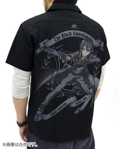 ソードアート・オンライン 黒の剣士キリト フルカラーワークシャツ ブラック Lサイズ