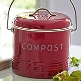 Lakeland Red Compost Bin 3.5L