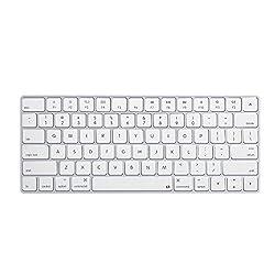 Litop® Newest Ultra Thin Soft Silicone Keyboard Cover Keyboard Skin for Apple Magic Keyboard MLA22B/A US Keyboard Layout (White Color)