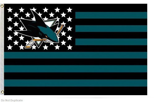 San Jose Sharks 3x5ft Stars and Stripes Flag Sharks -Nation (Shark Flag compare prices)