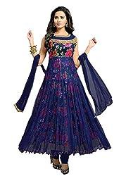 Aarti Lifestyle Women's Net Anarkali Suit Dress Material (EBSFSK267015_EB_Navy Blue)