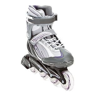 Rollerblade Bladerunner Pro 80 Women's In-Line Skate, Sil/Violet, Women's US 9