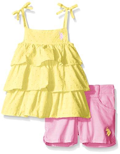 US Polo Association -  Completo - ragazza Giallo giallo