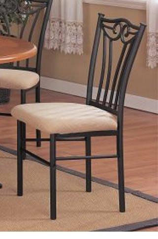 Set of 2 Dining Chairs - Traditional Walnut Finish
