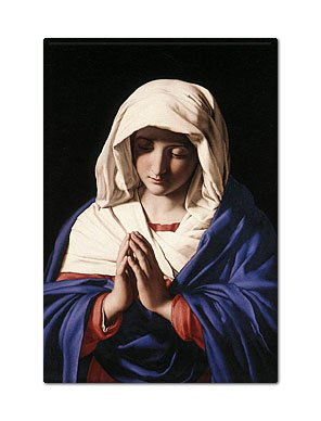 Virgin Mary Giovanni Battista Salvi Painting Fridge Magnet