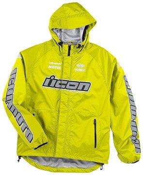 Icon PDX Waterproof Shell Jacket - Hi-Viz Yellow - Large - 2820-1637