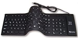Faltbare & wasserdichte USB-Tastatur