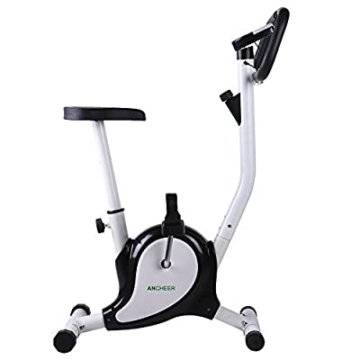 Ancheer Upright Bike Indoor Cycle Trainer Exercise Bike with LCD Display White