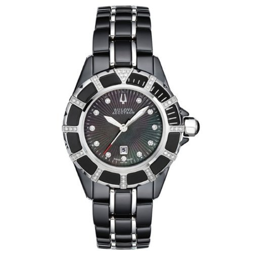 Bulova Accutron Womens Mirador Ceramic Watch 65r132