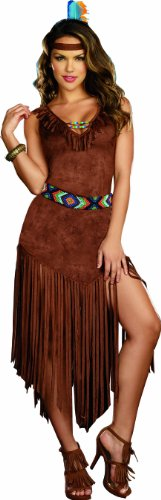 Dreamgirl Women's Sexy Native American Costume, Hot On The Trail