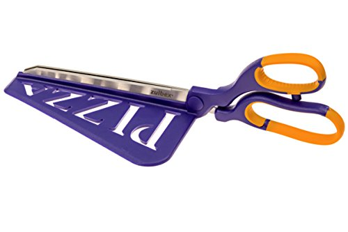 Pizza Cutter - Stainless Steel Pizza Scissors w/ Attached Spatula - Serves Hot Pizza Easily from a Pizza Stone, Pizza Pan or Pizza Oven - Ergonomic Grip & Cutting Design - Perfect Pizza Slices