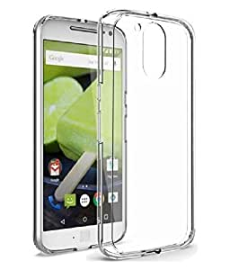 Transparent Back Cover + Screen Protector for Motorola Moto G4 Plus (Combo Pack) – Flexible Cover with Premium Flexi Tempered Glass Screen Protector by Heirloom Quality(TM)