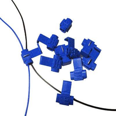Clip De Câble, Se Adapter À La Ligne De Diamètre: 0.8-2.0Mm (100Pcs Dans Un Emballage, Le Prix Est Pour 100Pcs), Bleu