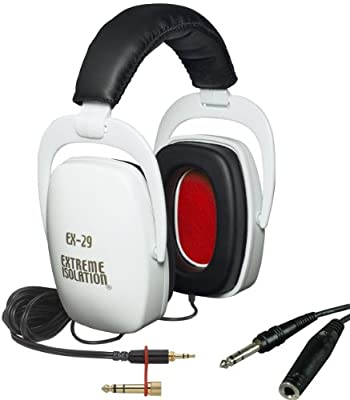Direct Sound EX-29 White Dynamic Closed Headphones w/Bag and Free Extension Cable from Direct Sound