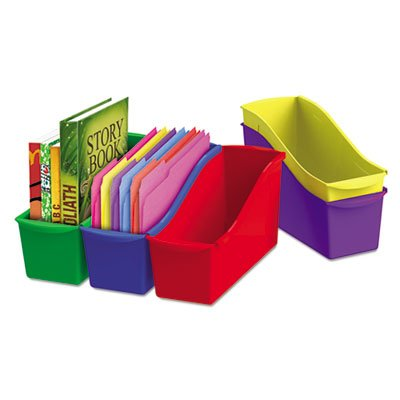 Interlocking Book Bins, 4 3/4 x 12 5/8 x 7, 5 Color Set, Plastic, Sold as 5 Each (Color Book Bins compare prices)