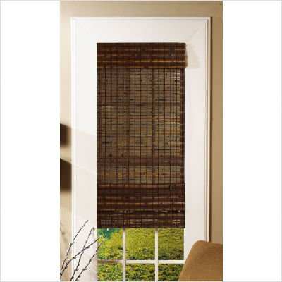 """Havana Bamboo Roman Shade in Cocoa Size: 72"""" H x 26.5"""" W"""
