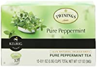 Twinings Pure Peppermint Tea Keurig K-Cups,12 Count (Pack Of 6)