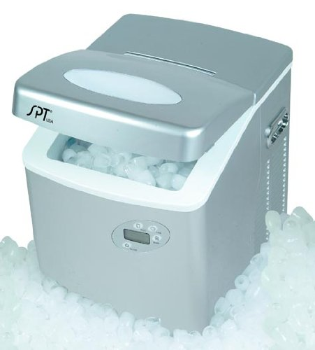 sunpentown Portable Ice Maker w/ LCD & Self-Clean Function