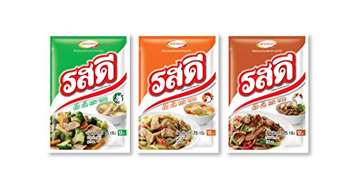 Ros-dee Food Seasoning Chicken/ Pork/ Beef Flavor Thai Original Cuisine Used to Cook Many Kinds of Food -- 3 Packs (Cuisines Popcorn Maker compare prices)