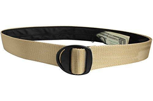 Bison Designs Crescent Black Buckle Money Belt - Medium - Desert Sand (Bison Money Belt compare prices)
