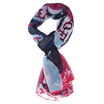 ed hardy 80x40 skull and bones scarf at