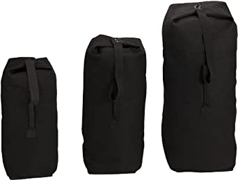 3499 BLACK TOP LOAD CANVAS DUFFLE BAGS 30 x 50