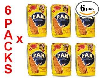 Harina PAN 6 PACK White Corn Meal Flour 6 x 1 Kg Venezuela