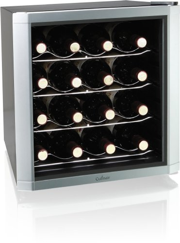 Culinair AW162S Thermoelectric 16-Bottle Wine Cooler, Silver/Black (Culinair Refrigerator compare prices)