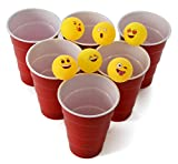Emoji Universe Beer Pong Balls, Table Tennis Balls, 6-Pack