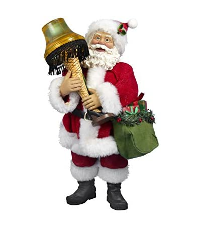 Kurt Adler 10 Leg Lamp Santa with Light