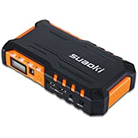 Suaoki G7 600A Peak 18000mAh Portable Car Jump Starter with Dual USB Charging Port and LED Flashlight