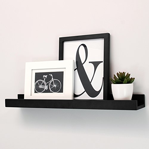Nexxt Edge Picture Frame Ledge, 23-Inch by 4-Inch, Black