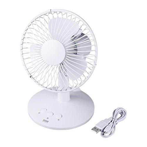 サンワサプライ 首ふり扇風機 ホワイト USB-TOY56WN