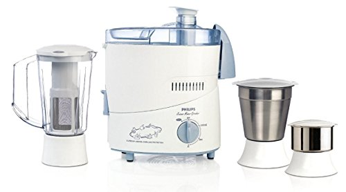 Philips HL1632 500-Watt 3 Jar Juicer Mixer Grinder with Fruit Filter (Blue)