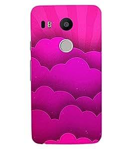 ColourCraft Love Design Back Case Cover for LG GOOGLE NEXUS 5X