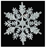 12-pc Silver 4 inch Snowflake Christmas Ornaments