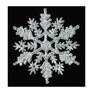 #!Cheap 12-pc Silver 4 inch Snowflake Christmas Ornaments