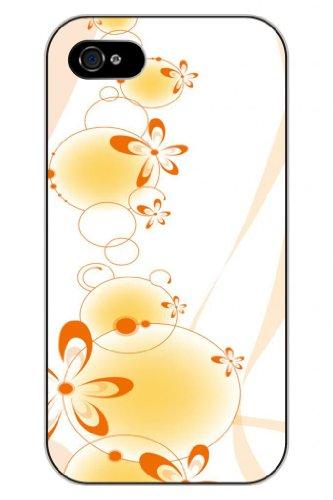 Sprawl New Fashion Design Hard Skin Case Cover Shell For Mobilephone Apple Iphone 5 5S--Orange Flower Decorative Pattern