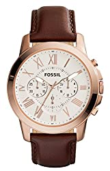 Fossil Grant Chronograph Beige Dial Mens Watch - FS4991I