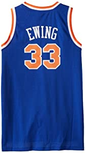 NBA adidas New York Knicks #33 Patrick Ewing Royal Blue Hardwood Classics Swingman... by adidas