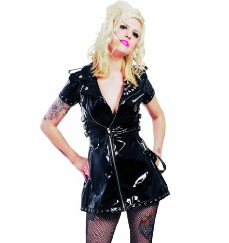 Hell Bunny PVC Biker Dress