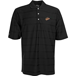 Antigua Mens Baltimore Orioles Tone Desert Dry Antech Anti-Bacterial Tonal Stri by Antigua