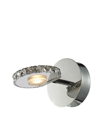 Artistic Lighting Spiva Collection 1-Light LED Bath Fixture, Polished Chrome