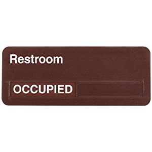 Accuform signs mflplxa6 dura shield acrylic plastic slide for Bathroom occupied sign